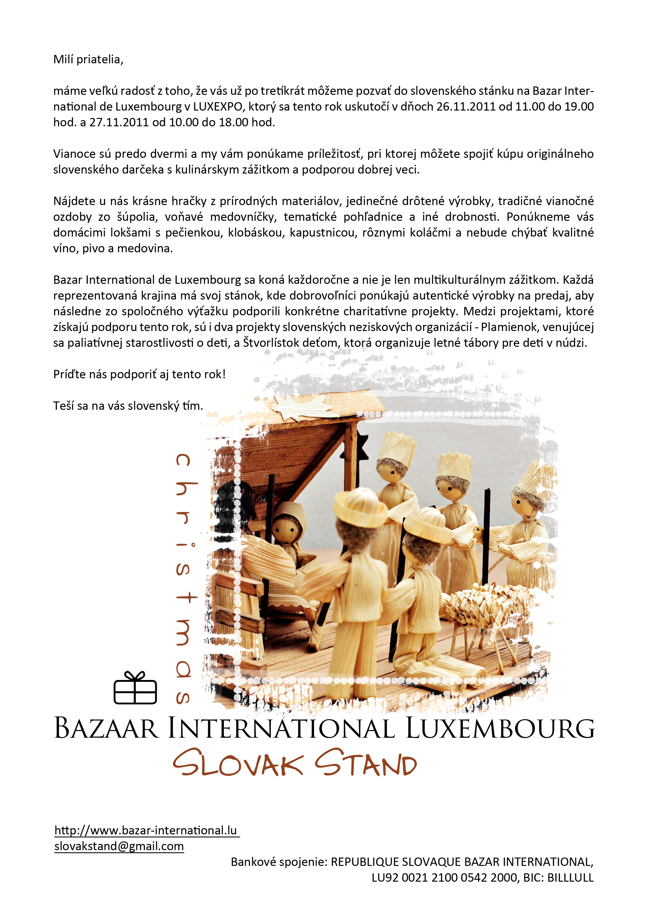 Pozvanka na Bazar International